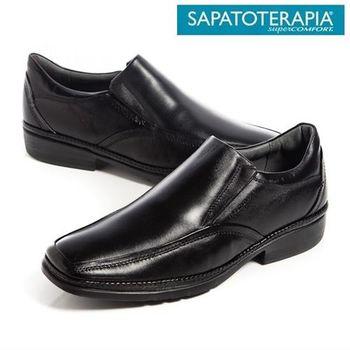 SAPATOTERAPIA 巴西超輕量直套皮鞋-黑