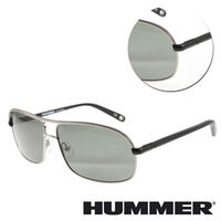 【HUMMER】雙樑銀框墨綠黑色太陽眼鏡(02-H2-2004-C3)