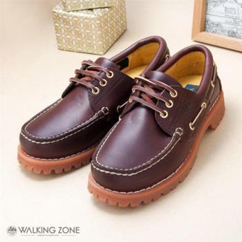 【WALKING ZONE】經典復刻雷根男鞋(咖) 小牛皮手工-男女款尺寸皆有