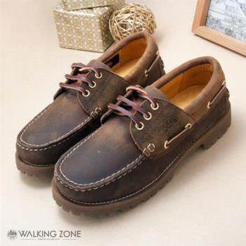 【WALKING ZONE】經典復刻雷根男鞋(棕) 小牛皮手工_男女款尺寸皆有