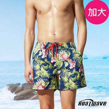 Heatwave熱浪 加大男海灘褲 扶桑綠-A221