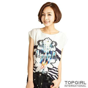 TOP GIRL 雪紡長版洋裝-魅力白