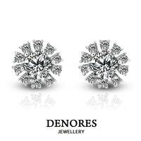 DENORES 綻陽 GIA F/VS2 50分天然鑽石耳環