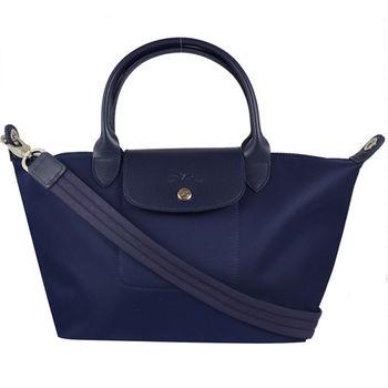 法國Longchamp Le Pliage Neo 折疊厚尼龍兩用包.深藍 M #1512