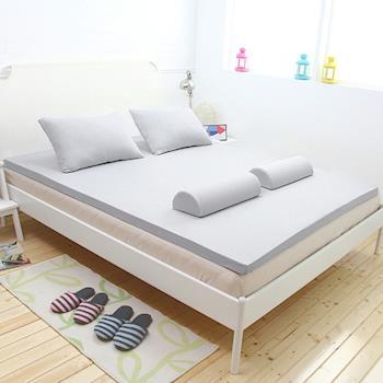 [輕鬆睡-EzTek]全平面竹炭感溫釋壓記憶床墊{單人加大3cm}繽紛多彩2色