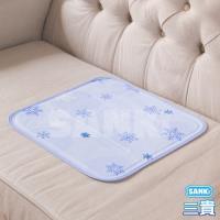 日本SANKi 雪花紫 固態凝膠冰涼枕坐墊 1入 可選