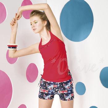 【梅林品牌】清新亮眼款英國國旗圖騰時尚二件式泳裝NO.M5472(現貨+預購)