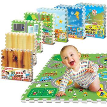 LOG樂格 環保遊戲巧拼地墊2cm  ~超值任選4入組 (60x60cm,共16片)