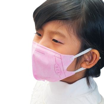 AOK 飛速 一般兒童醫用立體口罩 50入/盒 淡紅色