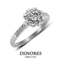 DENORES 『燦漾繽紛』GIA 0.50克拉F/VS2八心八箭鑽石戒指