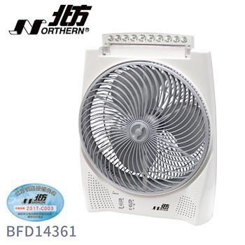 NORTHERN德國北方14吋風罩充電式DC節能箱扇BFD14361 LED照明燈