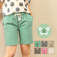 CASUAL GIRL「陽光女孩」棉麻休閒短褲 (綠色)