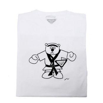 PRADA 奧運系列 跆拳道熊寶寶圖騰 T- shirt (白_S)