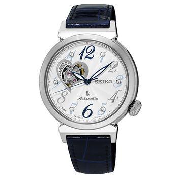 SEIKO LUKIA 內斂時尚女用愛心機械腕錶-34mm/4R38-01C0B(SSA843J1)