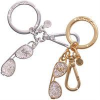MICHAEL KORS MK墨鏡造型水鑽鑲嵌質感釦環鑰匙圈(兩色任選)-行動