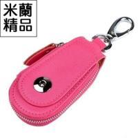 【米蘭精品】鑰匙包男女皮套汽車通用真皮時尚便攜6色