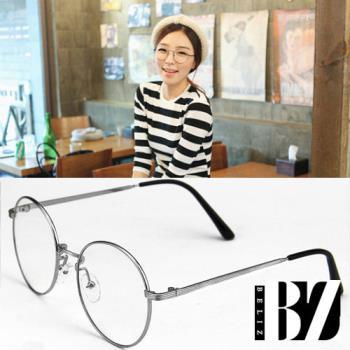 BeLiz圓框細銀平光眼鏡