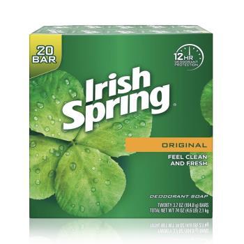 【美國 Irish Spring】箱購優惠20入除汗臭專用香皂106.3g-行動