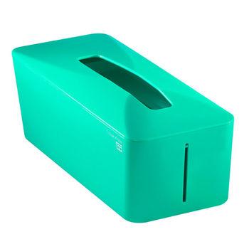 【Zakka雜貨網】Tissue.Know自動彈升面紙盒-孔雀綠 -行動