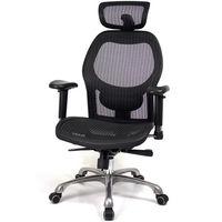 aaronation愛倫國度 透氣頭枕尼龍網鋁合金五爪腳主管椅-二色可選 i-213NHSGA