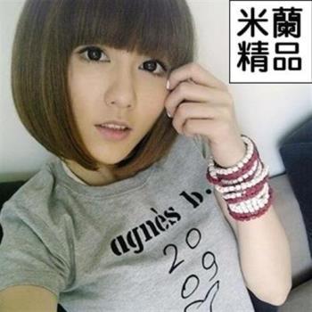 【米蘭精品】假髮整頂假髮短假髮可愛齊瀏海修臉時尚