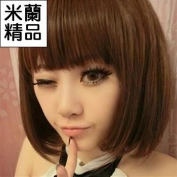 【米蘭精品】假髮整頂假髮短假髮可愛時尚修臉齊瀏海