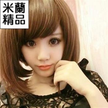 【米蘭精品】假髮整頂假髮短假髮可愛時尚修臉逼真