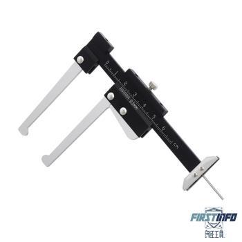 【良匠工具】鋁製 碟煞/碟刹厚度及輪胎胎紋深度測量計