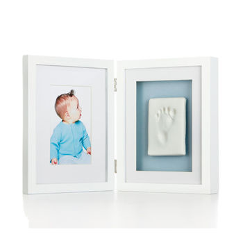 《TOMA.TOMA》新寶寶掌印桌上相框 (2格)(白)