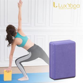 Lux Yoga 瑜珈磚-紫花紋50D EVA