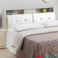 【品味居】艾格林 雪杉白6尺皮革床頭箱(不含床底+床墊)