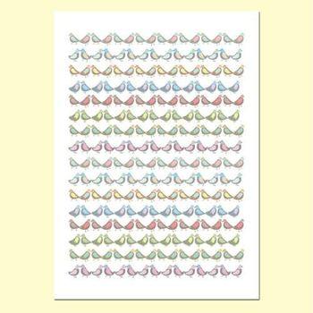 【摩達客】西班牙知名插畫家Judy Kaufmann藝術創作海報掛畫裝飾畫-小小鳥 (附Judy本人簽名)(含木框)