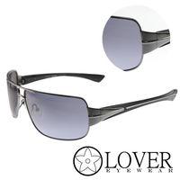 【Lover】精品方框藍色墨銀太陽眼鏡(9119-C01)
