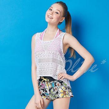 【潘它貝拉品牌】別緻蕾絲罩衫時尚三件式比基尼泳裝NO.1601005(現貨+預購)