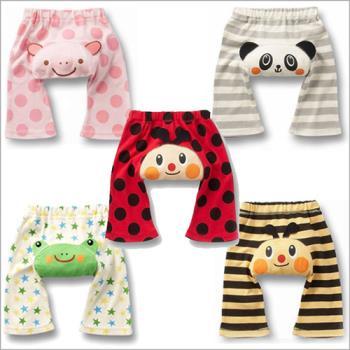 【3件入】夏季純棉可愛動物造型7分包屁短褲
