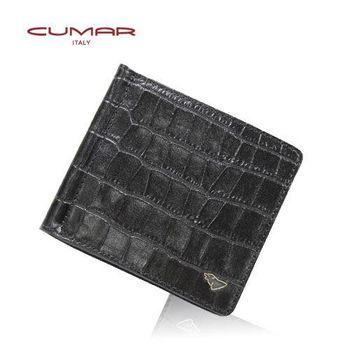 CUMAR牛皮壓印鱷魚紋-荷蘭梵谷系列(鈔票夾)0496-B8001