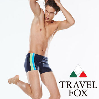 【TRAVELFOX 旅狐】簡約風大男四角泳褲(C14918)