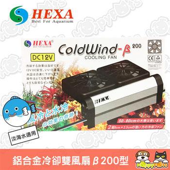 【HEXA海薩】 鋁合金冷卻雙風扇 -β200