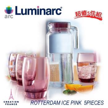 法國【樂美雅】凝彩1壼4杯水具組-冰粉(ARC-J5828)