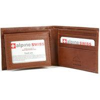 【Alpine Swiss】2016時尚雙折2合1信用卡棕色皮夾(預購)