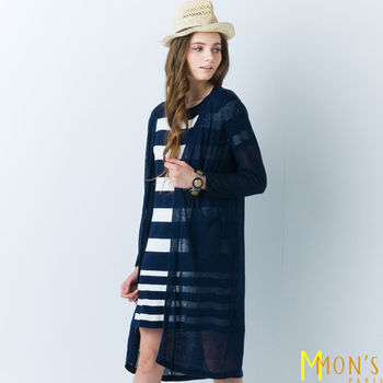 MON'S高雅薄紗唯美修身外套