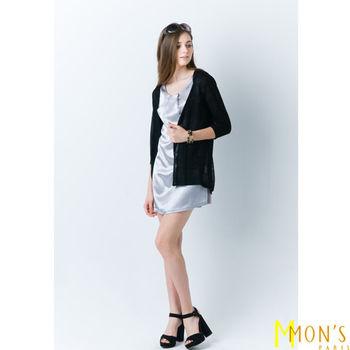 MON'S巴黎時尚微透造型外套