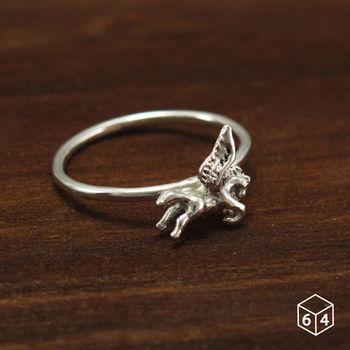 ART64 戒指 飛馬 Pegasus 925純銀戒指(2色可選)