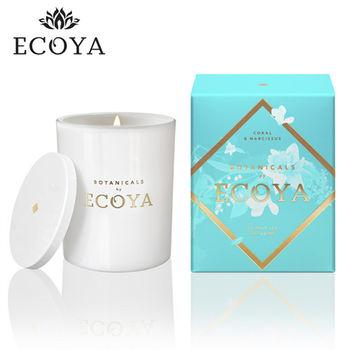 澳洲ECOYA 水晶香氛蠟燭珊瑚水仙 270g
