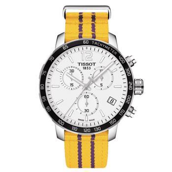 TISSOT天梭 X NBA 洛杉磯湖人隊特別版石英腕錶-42mm/T0954171703705