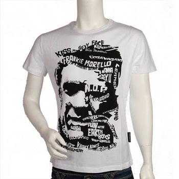 Frankie morello 人臉圖騰造型 T-shirt (白)