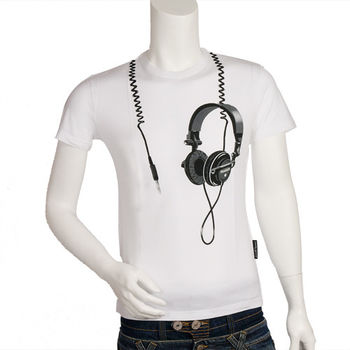 Frankie morello 耳機造型 T-shirt(白)