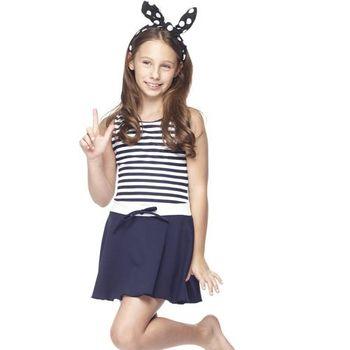 【SARBIS】MIT泡湯SPA中童連身裙泳裝附泳帽B88417