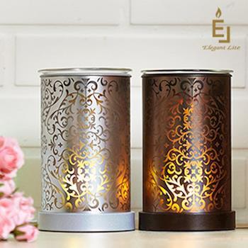 【Elegant Lite】典雅巴洛克恆溫香氛燈(銀色)(香氛 薰香 精油)