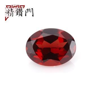 【精鑽門】橢圓形橘紅色石榴石裸石5.5-6*7.5-8mm(3入)